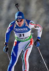 Lukas Hofer of Italy during the Men 10 km Sprint of the e.on IBU Biathlon World Cup on Saturday, December 18, 2010 in Pokljuka, Slovenia. The fourth e.on IBU World Cup stage is taking place in Rudno polje - Pokljuka, Slovenia until Sunday December 19, 2010. (Photo By Vid Ponikvar / Sportida.com)