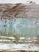 View of the tarn at the base of Mount Edith Cavell; Jasper National Park, Alberta, Canada