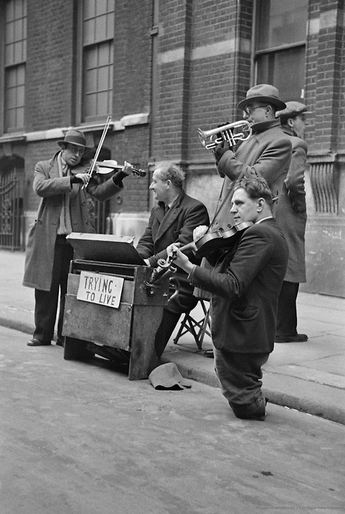 Street Musicians, London, 1945