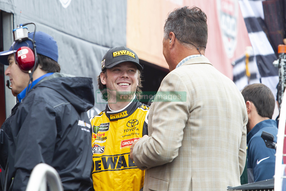 June 10, 2018 - Brooklyn, Michigan, U.S - NASCAR driver ERIK JONES (20) waits for his introduction to the fans at Michigan International Speedway. (Credit Image: © Scott Mapes via ZUMA Wire)
