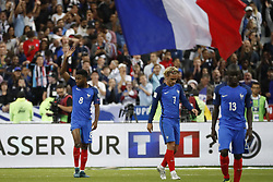 France's Thomas Lemar joy after scoring his 3-0 goal during the World Cup 2018 Group A qualifications soccer match, France vs Netherlands at Stade de France in Saint-Denis, suburb of Paris, France on August 31st, 2017 France won 4-0. Photo by Henri Szwarc/ABACAPRESS.COM
