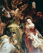 Adoration of the Kings', 1624: Peter Paul Rubens (1577-1640) Flemish painter. Oil on wood.