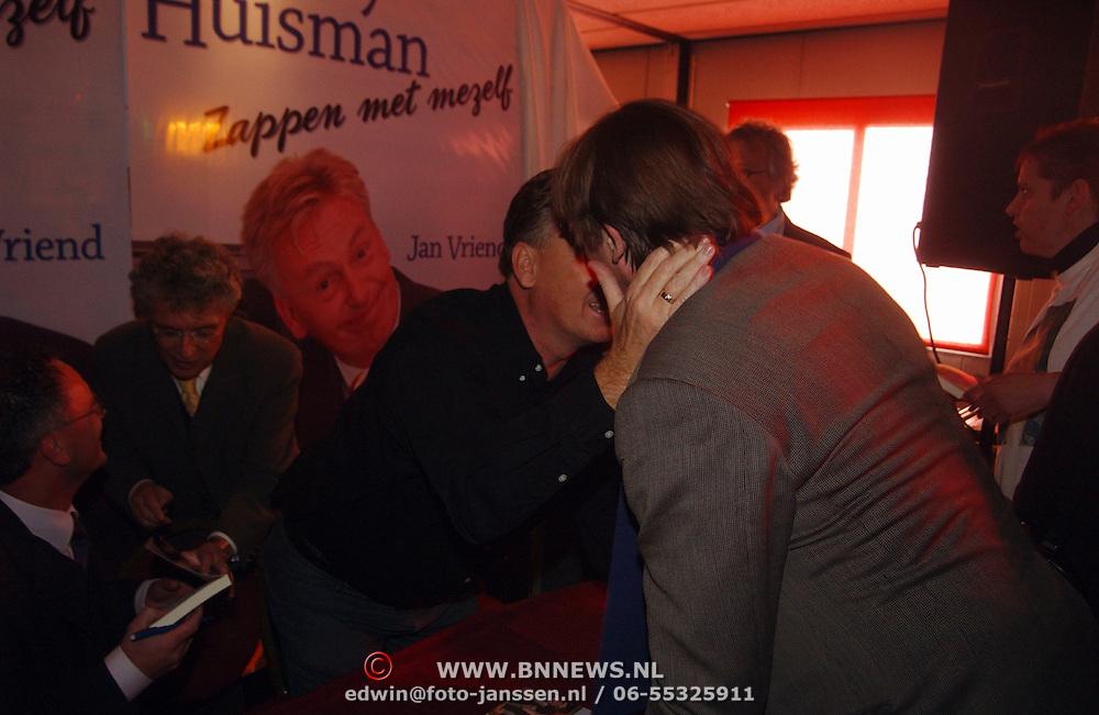 Boekpresentatie Henny Huisman AZ Stadion, Henny en Bert van der Veer