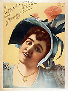 Title: Yours, Fanny Rice , c1895. lithograph depicting Fanny Rice, 1936. Actress.
