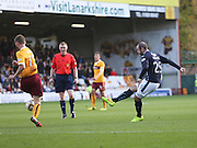 Dundee's Gary Harkins fires in a shot - Motherwell v Dundee, SPFL Premiership at Fir Park<br /> <br />  - &copy; David Young - www.davidyoungphoto.co.uk - email: davidyoungphoto@gmail.com