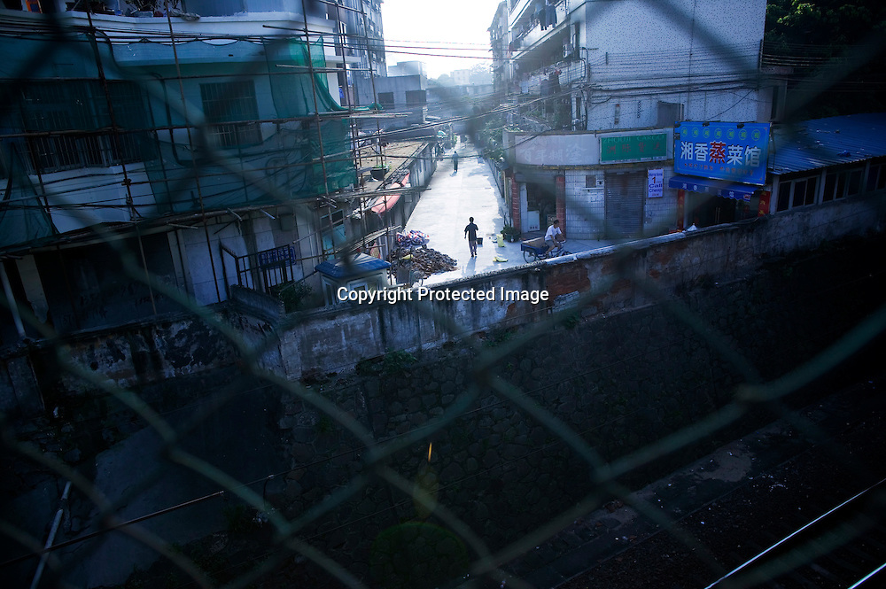 GUANGZHOU, 3. Mai , 2010:.das eher heruntergekommene Viertel am Kaahn Handelszentrum in Guangzhou...