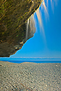 Waterfall on Sandcut Beach. <br />