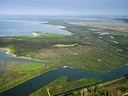 Nederland, Flevoland, Almere-Lelystad, 26-08-2019; begin van het natuurgebied de Oostvaardersplassen, met onder andere de gebieden Sompen en Kreekpunt en het water de Vinger. ZIcht op de Grote Plas.  Natura 2000-gebied, in beheer bij Staatsbosbeer, onderdeel van Nationaal Park Nieuw Land. <br /> Beginning of the Oostvaardersplassen area.<br /> luchtfoto (toeslag op standard tarieven);<br /> aerial photo (additional fee required);<br /> copyright foto/photo Siebe Swart