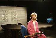 Judy Woodruff on the set of the News Hour in February 1984..Photograph by Dennis Brack  bb22