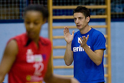 Coach of A. Linz-Steg Markus Ruppnig during volleyball match between Calcit Volleyball and A. Linz-Steg in Mevza league on October 23, 2010 at Sport Halli, Kamnik, Slovenia. (Photo By Matic Klansek Velej / Sportida.com)