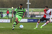 Forest Green Rovers Keanu Marsh-Brown(7) on the ball during the Vanarama National League match between Forest Green Rovers and Woking at the New Lawn, Forest Green, United Kingdom on 25 February 2017. Photo by Shane Healey.