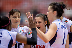 17-05-2016 JAP: OKT Dominicaanse Republiek - Italie, Tokio<br /> Italië verslaat Dominicaanse Republiek  met 3-0 / Alessia Gennari #8 of Italie, Antonella Del Core #15 of Italie