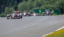 21.06.2015, Red Bull Ring, Spielberg, AUT, FIA, Formel 1, Grosser Preis von Österreich, Rennen, im Bild Nico Huelkenberg, (GER, Sahara Force India F1 Team), Sergio Perez, (MEX, Sahara Force India F1 Team), Pastor Maldonado, (VEN, Lotus F1 Team) // during the Race of the Austrian Formula One Grand Prix at the Red Bull Ring in Spielberg, Austria, 2015/06/21, EXPA Pictures © 2015, PhotoCredit: EXPA/ Dominik Angerer