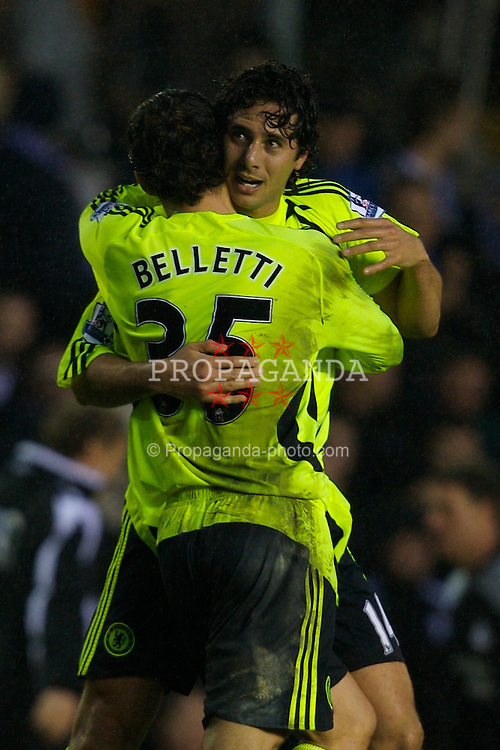 BIRMINGHAM, ENGLAND - Saturday, January 19, 2008: Chelsea's Claudio Pizarro celebrates scoring the winning goal against Birmingham City during the Premiership match at St Andrews. (Photo by David Rawcliffe/Propaganda)