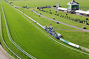 A general view of the Knavesmire including home straight and winning post prior to Day 3 of the Ebor Festival at York Racecourse, York, United Kingdom on 23 August 2019.