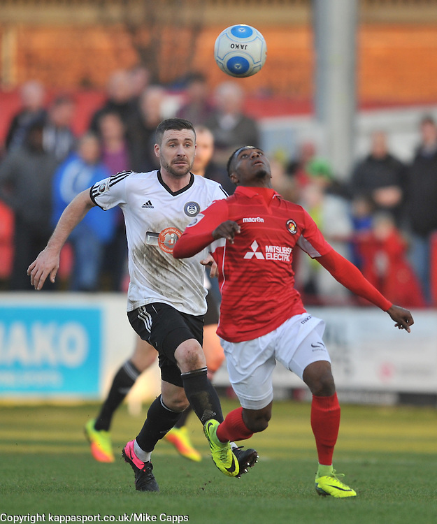 DARREN McQUEEN EBBSFLEET UNITED, Ebbsfleeet United v Hungerford Town, Stonebridge Road, Vanarama National League South, Saturday 18th February 2017,
