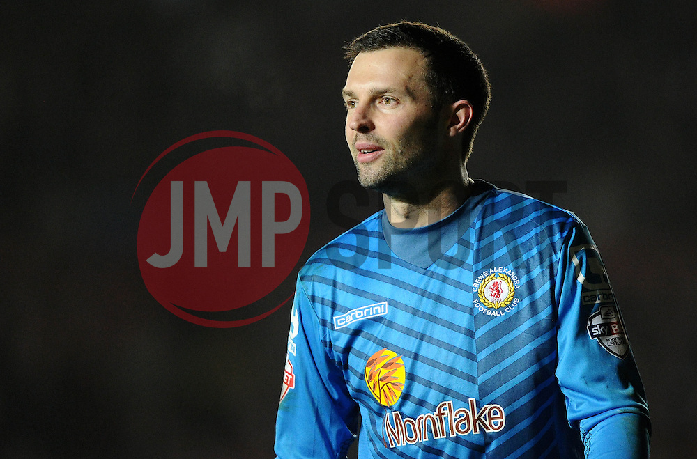 Crewe Alexandra's Paul Rachubka  - Photo mandatory by-line: Joe Meredith/JMP - Mobile: 07966 386802 - 17/03/2015 - SPORT - Football - Bristol - Ashton Gate - Bristol City v Crewe Alexandra - Sky Bet League One