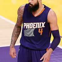 06 November 2016: Phoenix Suns center Tyson Chandler (4) is seen during the LA Lakers 119-108 victory over the Phoenix Suns, at the Staples Center, Los Angeles, California, USA.