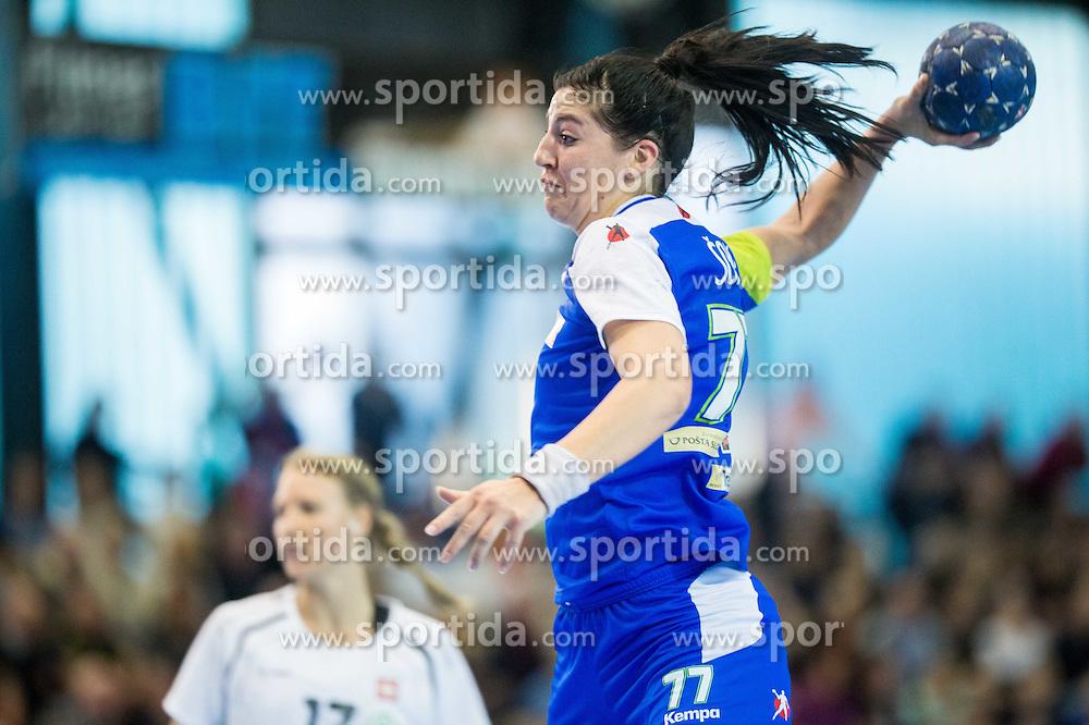 Maja Son of Slovenia during handball game between Women National Teams of Slovenia and Switzerland in 2014 Women's European Championship Qualification, on March 30, 2014 in Arena Kodeljevo, Ljubljana, Slovenia. Photo by Vid Ponikvar / Sportida