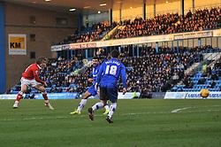 Bristol City's Luke Freeman takes a shot at goal. - Photo mandatory by-line: Dougie Allward/JMP - Mobile: 07966 386802 - 28/12/2014 - SPORT - football - Gillingham - Priestfield Stadium - Bristol City v Gillingham - Sky Bet League One