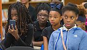 Library dedication at Attucks Middle School, January 18, 2017.
