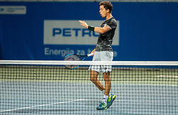Aljaz Bedene of Slovenia playing Singles in Quarter - Final of ATP Challenger Zavarovalnica Sava Slovenia Open 2019, day 8, on August 16, 2019 in Sports centre, Portoroz/Portorose, Slovenia. Photo by Vid Ponikvar / Sportida