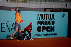 May 5, 2019 - Madrid, Spain - Taylor Fritz (USA) in his match against  Marius Copil (ROU) during day two of the Mutua Madrid Open at La Caja Magica in Madrid on 5th May, 2019  (Credit Image: © Juan Carlos Lucas/NurPhoto via ZUMA Press)