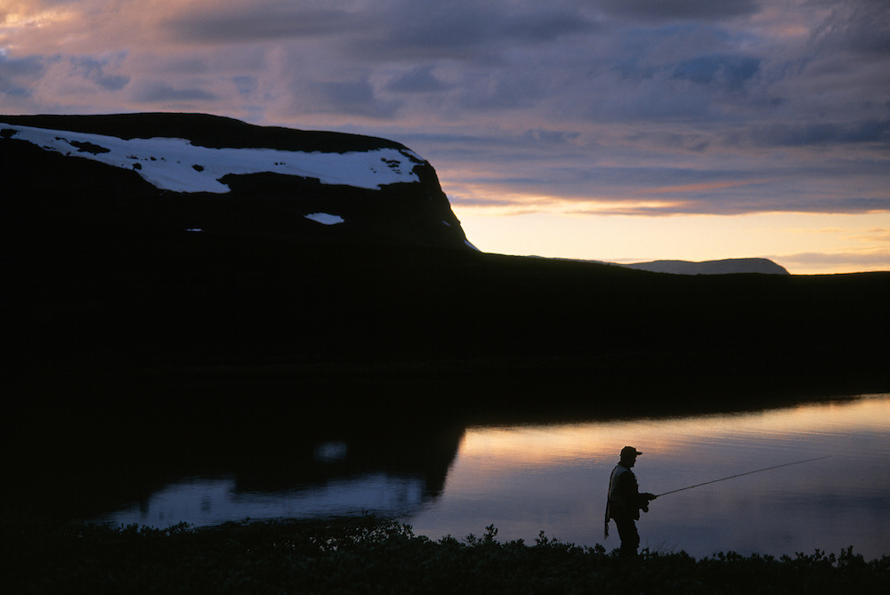 Flyfishing, Ammarnäs, Västerbotten, Sweden