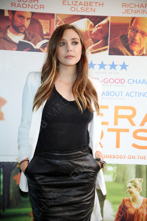 16.SEPTEMBER.2012. LONDON<br /> <br /> ELIZABETH OLSEN ATTENDS A PHOTOCALL FOR HER NEW FILM LIBERAL ARTS.<br /> <br /> BYLINE: EDBIMAGEARCHIVE.CO.UK<br /> <br /> *THIS IMAGE IS STRICTLY FOR UK NEWSPAPERS AND MAGAZINES ONLY*<br /> *FOR WORLD WIDE SALES AND WEB USE PLEASE CONTACT EDBIMAGEARCHIVE - 0208 954 5968*