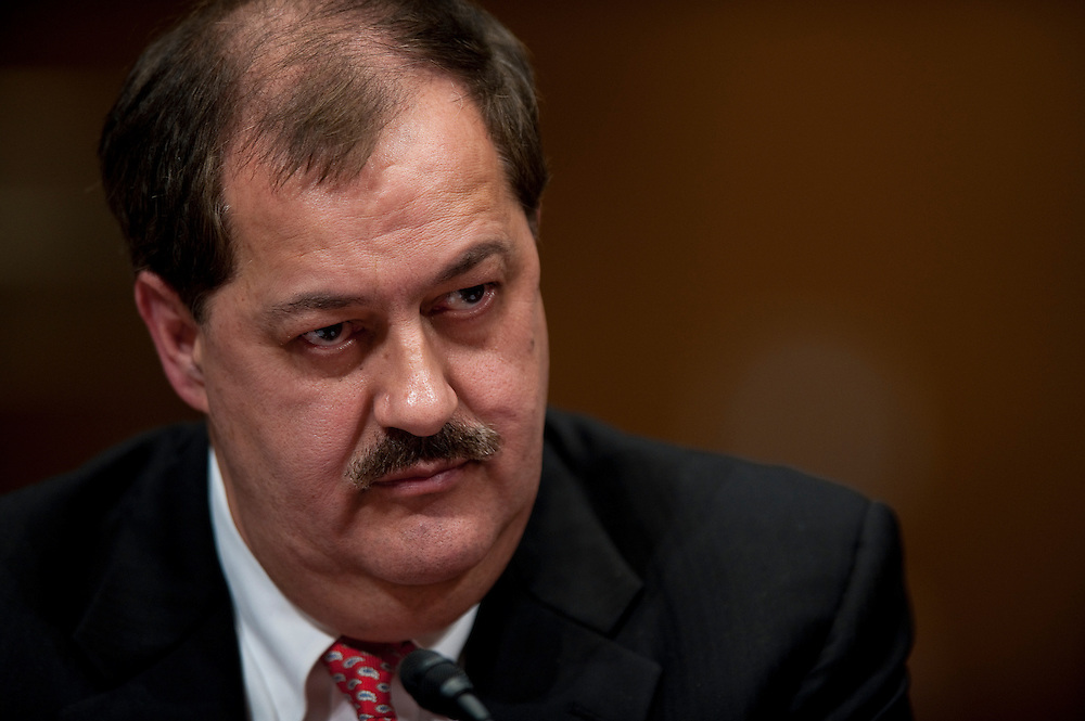 May 20, 2010 - Washington, District of Columbia, U.S., - Don Blankenship, chairman and CEO of Massey Energy Company appears before a Senate Appropriations Committee hearing on Mine Safety Investment on Thursday.(Credit Image: © Pete Marovich/ZUMA Press)