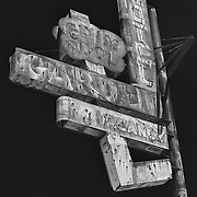 Garden Motel Sign - Kingsburg, CA - Old Highway 99 - HDR - Infrared Black & White