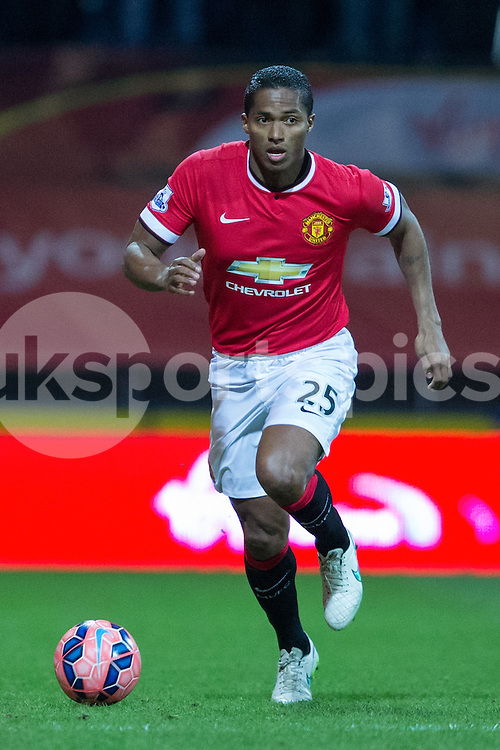 Manchester United's Antonio Valencia during the The FA Cup match between Preston North End and Manchester United at Deepdale, Preston, England on 16 February 2015. Photo by James Williamson.
