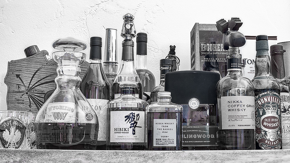 Bar cart still life.