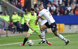 Gwion Edwards of Peterborough United battles with Darren Pratley of Bolton Wanderers - Mandatory by-line: Joe Dent/JMP - 30/04/2017 - FOOTBALL - Macron Stadium - Bolton, England - Bolton Wanderers v Peterborough United - Sky Bet League One