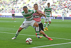 29.07.2015, PGE Arena, Gdansk, POL, Testspiel, OSP Lechia Gdansk vs Juventus Turin, im Bild NEVEN MARKOVIC, STEPHAN LICHTSTEINER // during the International Friendly Football Match between OSP Lechia Gdansk and Juventus FC at the PGE Arena in Gdansk, Poland on 2015/07/29. EXPA Pictures © 2015, PhotoCredit: EXPA/ Newspix/ Lukasz Grochala<br /> <br /> *****ATTENTION - for AUT, SLO, CRO, SRB, BIH, MAZ, TUR, SUI, SWE only*****
