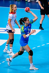 02-12-2019 JAP: Slovenia - Norway, Kumamoto<br /> Second day 24th IHF Womenís Handball World Championship, Slovenia lost the second match against Norway with 20 - 36. / Ana Gros #6 of Slovenia