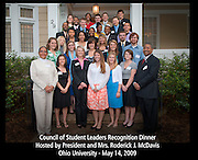19269Council of Student Leaders group photo spring 2009