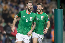 October 6, 2017 - Dublin, Ireland - Daryl Murphy and Shane Long of Ireland celebrate after first goal during the FIFA World Cup 2018 Qualifying Round Group D match between Republic of Ireland and Moldova at Aviva Stadium in Dublin, Ireland on October 6, 2017  (Credit Image: © Andrew Surma/NurPhoto via ZUMA Press)