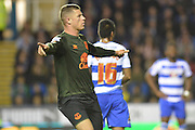 Everton's midfielder Ross Barkley celebrates his goal during the Capital One Cup match between Reading and Everton at the Madejski Stadium, Reading, England on 22 September 2015. Photo by Mark Davies.