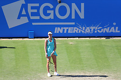 Johanna Konta of Great Britain looks dejected - Mandatory by-line: Paul Terry/JMP - 24/06/2016 - TENNIS - Devonshire Park - Eastbourne, United Kingdom - Karolina Pliskova v Johanna Konta - Aegon International Eastbourne