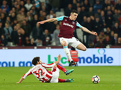 April 16, 2018 - London, England, United Kingdom - West Ham United's Declan Rice.during English Premier League match between West Ham United and Stoke City at London stadium, London, England on 16 April 2018. (Credit Image: © Kieran Galvin/NurPhoto via ZUMA Press)