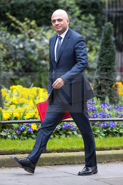 © Licensed to London News Pictures . 29/03/2017 . London , UK . SAJID JAVID arrives . Ministers arriving and leaving for a Cabinet meeting and Prime Minster's Questions , at 10 Downing Street , Westminster . Today (29th March 2017) the British Government will trigger Article 50 of the Lisbon Treaty and commence Britain's withdrawal from the European Union . Photo credit : Joel Goodman/LNP