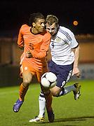 Holland's Patrick Vanaaholt and Scotland's Jordan Rhodes - Scotland v Holland - UEFA U21 European Championship qualifier at St Mirren Park..© David Young - .5 Foundry Place - .Monifieth - .Angus - .DD5 4BB - .Tel: 07765 252616 - .email: davidyoungphoto@gmail.com.web: www.davidyoungphoto.co.uk