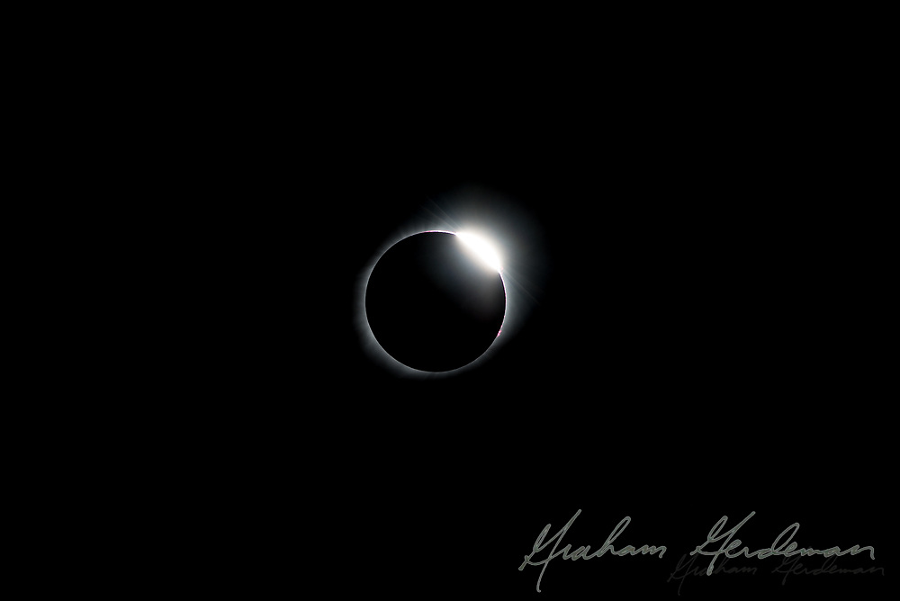 The total solar eclipse of August 21, 2017. Photographed outside Nashville, TN. The Diamond Ring effect, as the sun emerges from behind the moon.