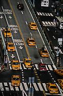 New York. elevated view on the traffic on  Park avenue south / park avenue sud vue d'en haut
