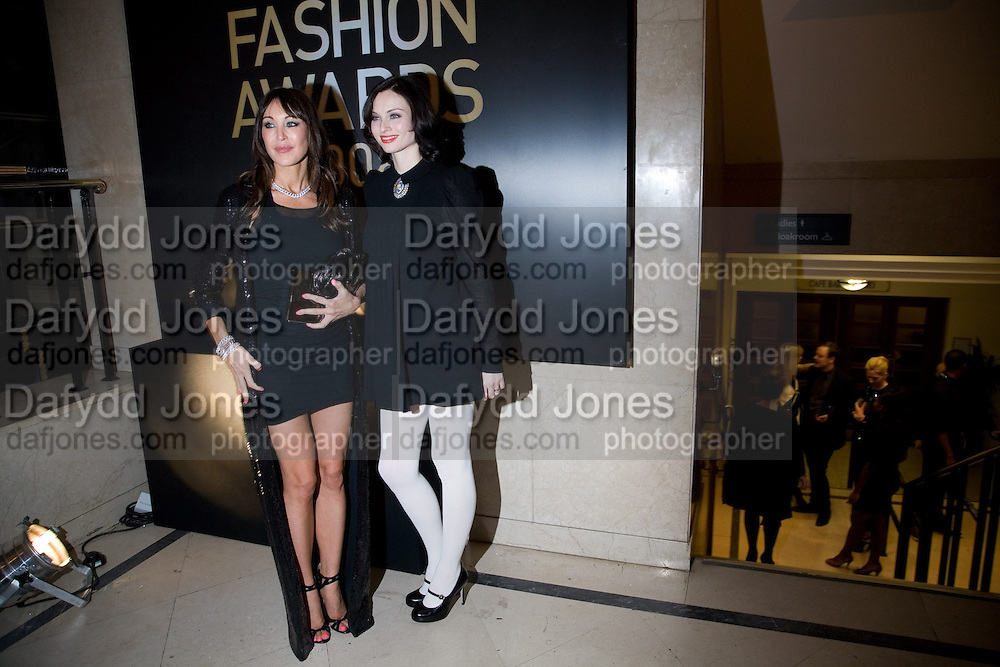 TAMARA MELLON; SOPHIE ELLIS BEXTOR, British Fashion Awards Ceremony. Supported by Swarovski and organised by British Fashion Council. Lawrence Hall. Greycoat St. London SW1. 25 November 2008 *** Local Caption *** -DO NOT ARCHIVE-© Copyright Photograph by Dafydd Jones. 248 Clapham Rd. London SW9 0PZ. Tel 0207 820 0771. www.dafjones.com.