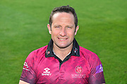 Head shot of Roelof van der Merwe in the Royal London One-Day Cup kit during the 2019 media day at Somerset County Cricket Club at the Cooper Associates County Ground, Taunton, United Kingdom on 2 April 2019