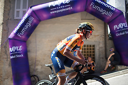 Chantal Blaak (NED) of Boels-Dolmans Cycling Team  rides near the top of the final climb of Stage 5 of the Giro Rosa - a 12.7 km individual time trial, starting and finishing in Sant'Elpido A Mare on July 4, 2017, in Fermo, Italy. (Photo by Balint Hamvas/Velofocus.com)