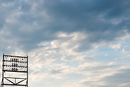 A view of the sky and a light stand at Nationals Park during a game between the Minnesota Twins and Washington Nationals on June 9, 2013 in Washington DC, Maryland. Photo: Ben Krause