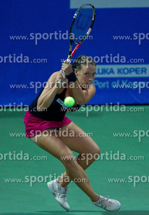 Andreja Klepac of Slovenia at 1st Round of Singles at Banka Koper Slovenia Open WTA Tour tennis tournament, on July 19, 2010 in Portoroz / Portorose, Slovenia. (Photo by Vid Ponikvar / Sportida)